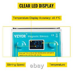 VEVOR Magnetic Stirrer Hot Plate Digital Hotplate Magnetic Stirrer 2000 RPM 2L