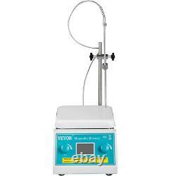 VEVOR Magnetic Stirrer Hot Plate Digital Hotplate Stirrer 2000 RPM 2L with Stand