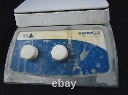 VWR 7x7 Ceramic Top 60-1600rpm 500°C Magnetic Lab Stirrer Hot Plate 12365-382