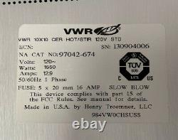 VWR 97042-674 10x10 Hot Plate Stirrer 1550W, 120V